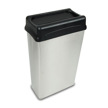 Rectangular Receptacle W/Drop Top Lid: 22 Gallons