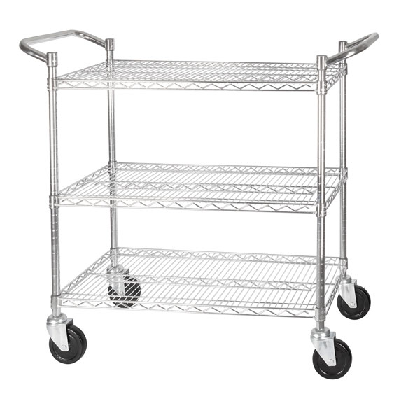 3-Tier Wire Shelving Carts