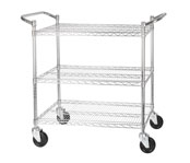 Winco 3-Tier Wire Shelving Carts