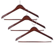 Walnut Open-Hook Contoured Hangers