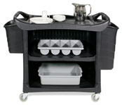 Enclosed Service Cart & Optional Bins