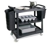 3 Shelf Service Cart & Optional Bins