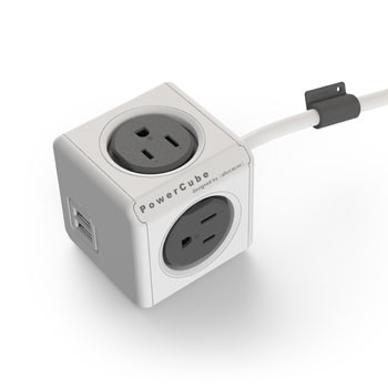 PowerCube USB/Outlet w/ 5 ft. Extended Cord
