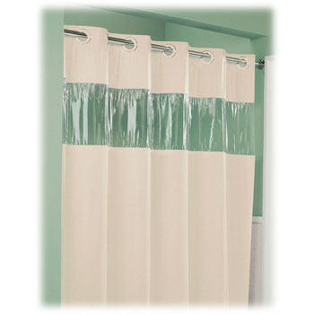 "Lodgmate "" Vision"" Pre-Hooked Polyester Curtain; 71x74"""