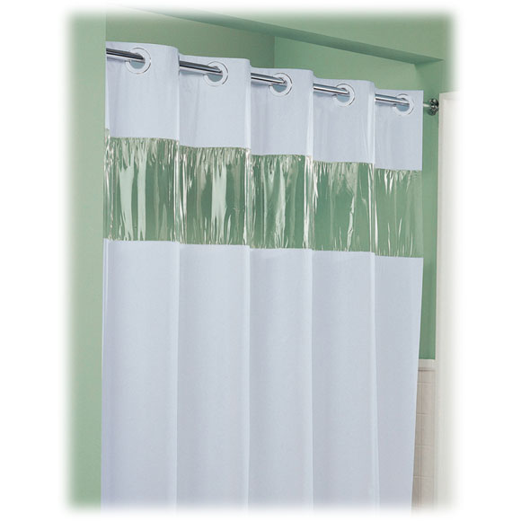 Lodgmate Pre Hooked Polyester Shower Curtain National Hospitality