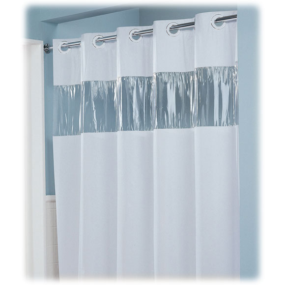 Lodgmate Pre Hooked Vinyl Shower Curtains