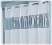 Lodgmate Pre-Hooked Vinyl Shower Curtains