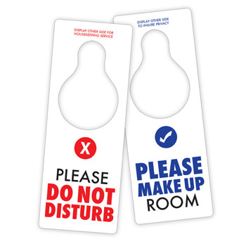 Do Not Disturb/Maid Service English Only 100/pk