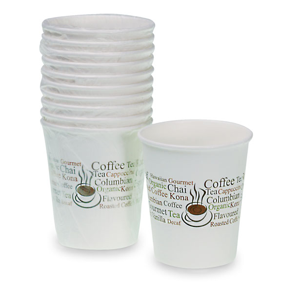 Hot Paper Cups 9 oz. Wrapped 1000/cs
