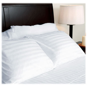 LodgMate Tone-on-Tone Stripe 200 ct. Sheets & Pillowcases