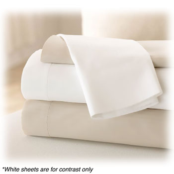 LodgMate 180 ct. Bone Bed Sheets & Pillowcases
