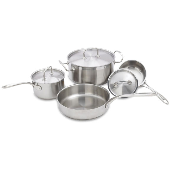 Premium 7-pc Stainless Steel Cookware Set