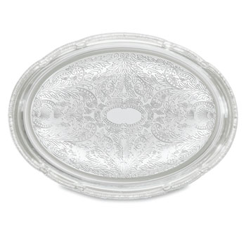 Chrome Oval Serving Trays