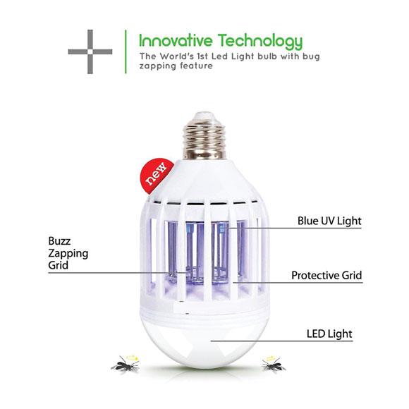 9W 2 in 1 Mosquito LED Killer Light Bulb