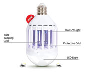 100W 2 in 1 Mosquito Killer LED Light Bulb