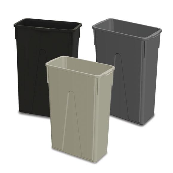 23 gal waste receptacle national hospitality - Slimline waste bin ...