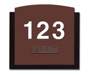 Custom ADA Braille Layered Series Door Number Plates