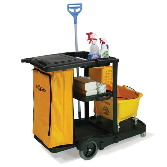Janitor Cart w/ Lid and Zipper Bag