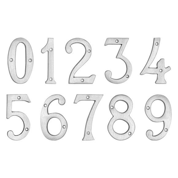 """4"""" Brushed Aluminum Metal Door Numbers"""