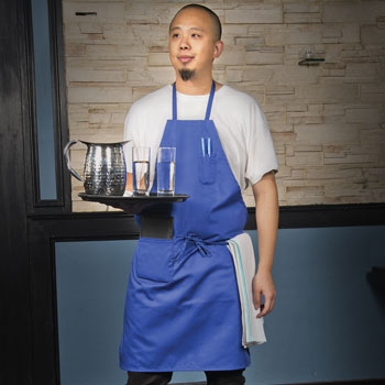 Colored Full Length Poly/Cotton Bib Apron