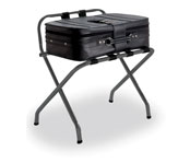 Deluxe Luggage Rack w/Back Matte Grey Finish