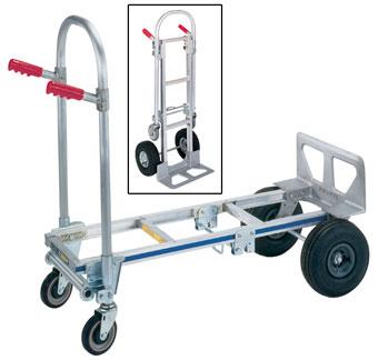Hand Truck; Aluminum; 600 Lb. Capacity/4 Wheel