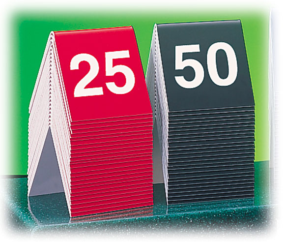 ENGRAVED NUMBER TENTS & Custom Restaurant Table Number Tent Signs | National Hospitality