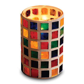 Mosaic One-piece Glass Candle Lamp