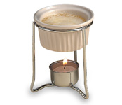 Ceramic Butter Warmer w/Stand