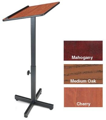 "30""-44"" Adjustable Height Portable Presentation Lectern"