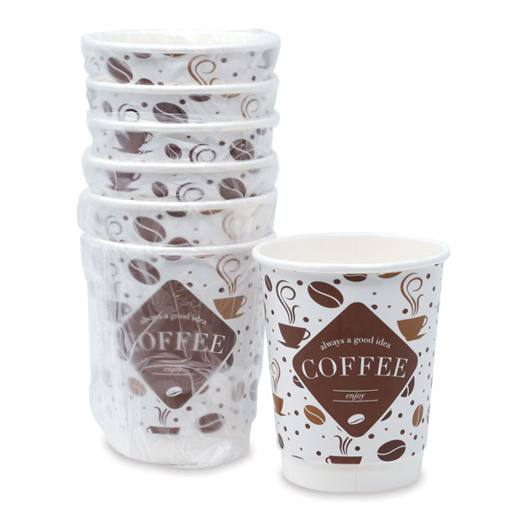 9 oz. Double Wall Insulated Hot Cups & Lids