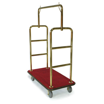 Heavy-Duty Luggage Carrier - Brass Finish