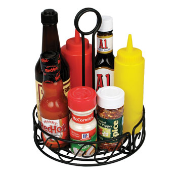 Black Wire Caddy/Condiment Holder