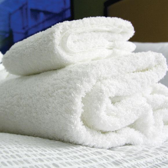 Blue River 86% Cotton/14% Poly  Economical Towels