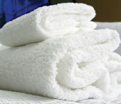 Blue River 86% Cotton/14% Poly  Economical Towels