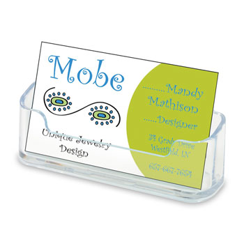 "Business Card Holder - Clear - 3-3/4"" x 1-1/2"""