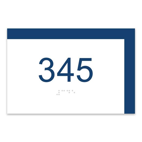 "Cafe Bar 6""W x 4""H ADA Braille Room Number Sign"
