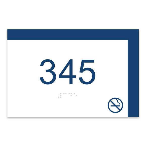 "Cafe Bar 6""W x 4""H ADA Braille Room Number Sign w/ Symbol"