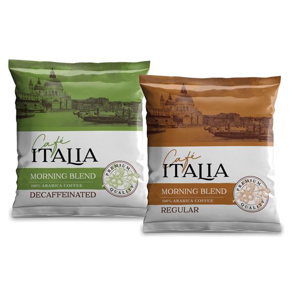 Cafe Italia Premium 4-Cup Coffee Pouches