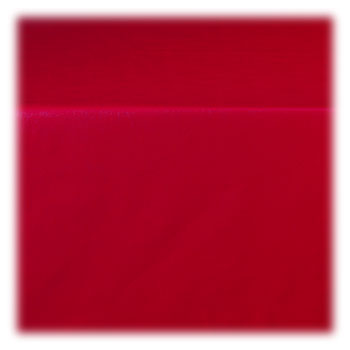 "Pearlized Linen 4 Ga. Red Vinyl Tablecloth - 52""x52"""