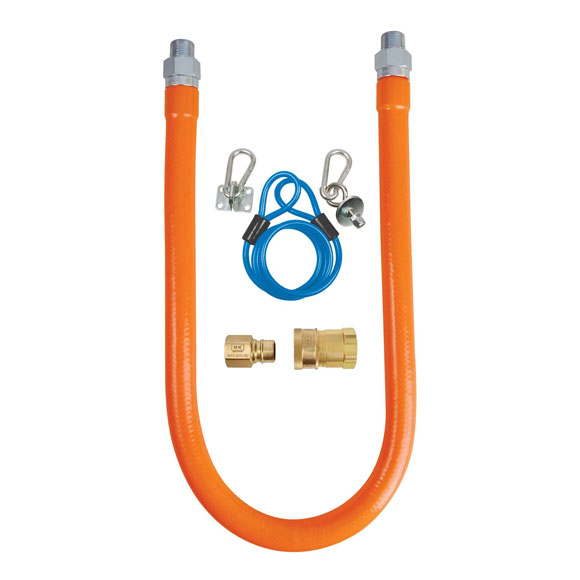 "BK Commercial Gas Hose w/ Quick Disconnect and Restraining Cable - 0.75"" x 48"""