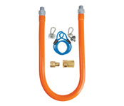 BK Commercial Gas Hose w/ Quick Disconnect and Restraining Cable - 0.75
