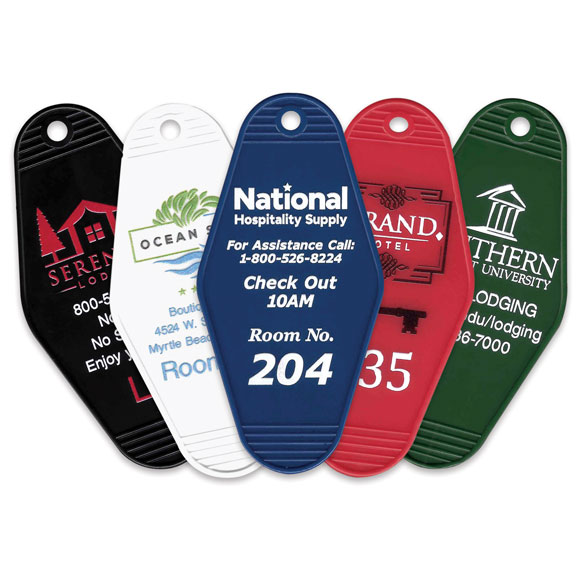 "3-1/2"" Custom Design Printed Key Tags"