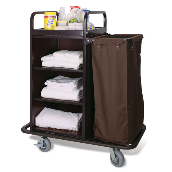 Deluxe Compact Cart with Mahogany Panels