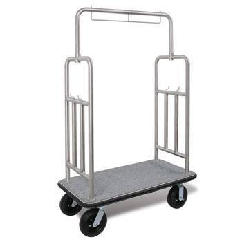 Deluxe S.S. Luggage Carrier; Brushed Chrome