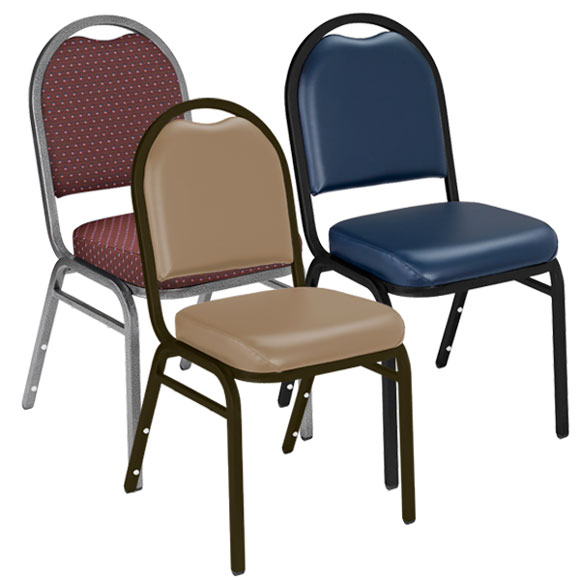 Dome Back Stack Chairs