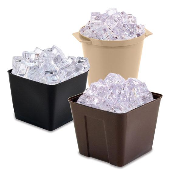 Durable Plastic Ice Buckets & Room Trays
