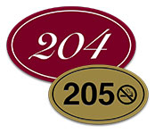 Deluxe Oval Engraved Door Number Signs