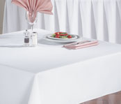 Signature Spun Filament Polyester Tablecloths; White
