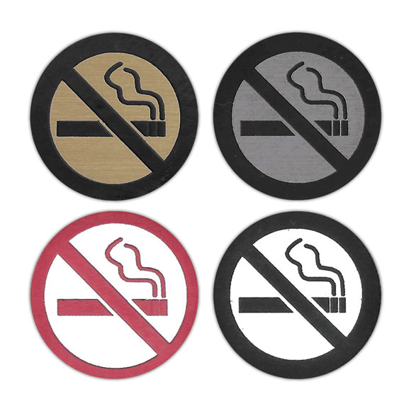 No Smoking Symbol Badges National Hospitality